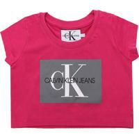 Blusa Calvin Klein Kids Menina Frontal Rosa