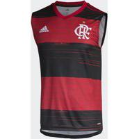 Camiseta Regata Flamengo Adidas I 2020 2021 Rubro-Negra Fh7588