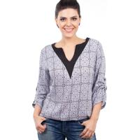 Blusa Love Poetry Estampada Cinza