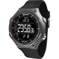 Relógio X-Games Xport Carbon Masculino - Masculino-Preto