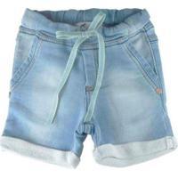 Bermuda De Infantil Oliver Moletom Jeans Claro Masculina - Masculino-Azul Claro