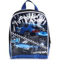 Lancheira Infantil Luxcel Stock Car Azul Azul