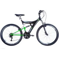 Bicicleta Aro 26 Full Suspensão 18V Preto Track Bikes