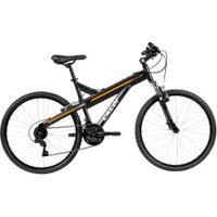 Mountain Bike Caloi T-Type - Aro 26 - Freios V-Brake - Câmbio Traseiro Shimano Tz - 21 Marchas - Preto