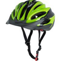 Capacete Para Bike Spin Roller Style - Adulto - Preto/Verde Cla