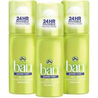 Ban Kit Desodorante Antitranspirante Roll-On 44Ml Trio - Powder Fresh