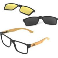 Óculos De Grau Mormaii Swap Clip On Fosco - Unissex
