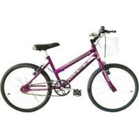 Bicicleta Infantil Aro 20 Mtb Com Cestinha - Feminino