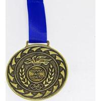 Medalha Honra Ao Mérito Bronze Com Fita 50Mm Zona Livre - Unissex
