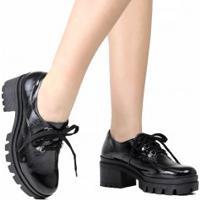 Sapato Dakota Oxford Salto Grosso Tratorado