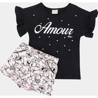 Conjunto Infantil Milon Floral Feminina - Feminino