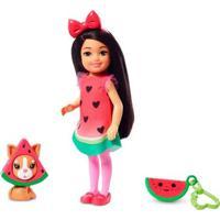 Boneca Barbie - Club Chelsea - Festa À Fantasia - Melancia - Mattel