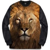 Blusa Bsc Lion Full Print - Masculino