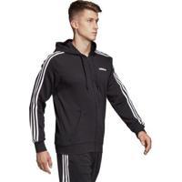Jaqueta Adidas 3S Com Capuz Masculina - Masculino-Preto+Branco