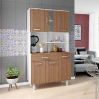 Cozinha Compacta Atenas 6 Pt 1 Gv Branco E Montana
