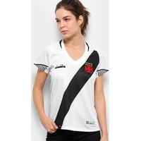 f11d5ceab1f8d Netshoes  Camisa Vasco Ii 2018 S N° Torcedor Diadora Feminina - Feminino