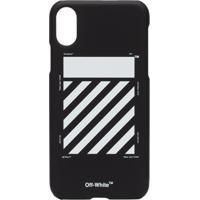 Off-White Capa Para Iphone X Com Logo - Preto