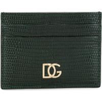 Dolce & Gabbana Porta-Cartões Com Efeito De Pele De Crocodilo - Verde