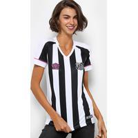 7be2c336dfb61 Netshoes  Camisa Santos Ii 2018 S N° Torcedor Umbro Feminina - Feminino