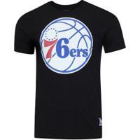 Camiseta Nba Philadelphia 76Ers Big Logo - Masculina - Preto