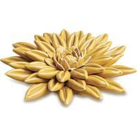 Flor Decorativa Em Relevo Com Camadas- Amarela- 3,5Xmart
