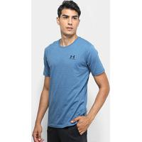 Camiseta Under Armour Sportstyle Left Chest Ss Masculina - Masculino-Azul Petróleo+Preto