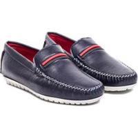 Mocassim Sapato Confort Dmt Masculino - Masculino-Azul