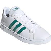 Tênis Adidas Grand Court Base Masculino - Masculino-Branco+Verde