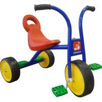 Triciclo Escolar Azul E Vermelho Bandeirante