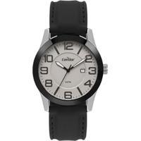 Relógio Condor Casual Bicolor Masculino - Masculino-Preto