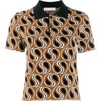 Marni Camisa Polo Com Estampa Paisley - Marrom