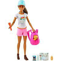 Barbie Caminhada Com Cachorrinho - Mattel