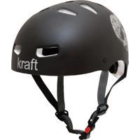 Capacete De Proteção Bicicleta Patins Skate Caveira Preta - Kraft