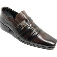 Sapato Social Bertelli Metal Confort Masculino - Masculino-Marrom
