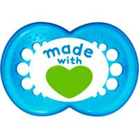 Chupeta Limited Edition - Fase 2 - Made With Love - Mam - Unissex-Azul