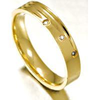 Aliança De Ouro Noivado Anatômica E Diamantes - As0738 + As0546
