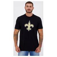 Camiseta New Era Nfl New Orleans Saints Strike Preta