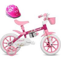 Bicicleta Aro 12 Infantil Feminina Penélope Mormaii Com Capacete - Unissex