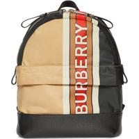 Burberry Kids Signature Colour Block Backpack - Preto