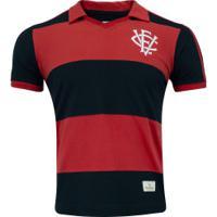 Camisa Do Vitória 1990 Retrômania - Masculina - Vermelho/Preto