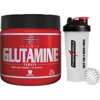 Glutamine 300 G + Coqueteleira -Integralmédica - Unissex