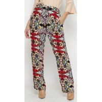 Calã§A Pantalona Floral - Vermelha & Rosa Clarovip Reserva
