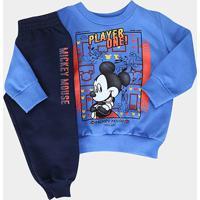 Conjunto Infantil Cativa Disney Mickey Player One Masculino - Masculino-Azul