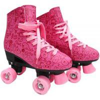 Patins Roller Estilo New Rosa N. 34 Dm Toys