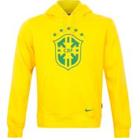 Moletom Nike Club Cbf Brasil Core Amarelo