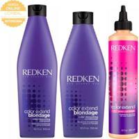 Kit Shampoo + Condicionador + Tratamento Redken Color Extend Blondage - Unissex-Incolor