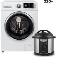 Lava E Seca Storm Wash Inverter 10,2 Kg + Panela Elétrica Midea 220V