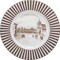 Prato Raso 28 Cm Porcelana Schmidt - Dec. Imagens Do Brasil