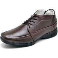 Sapato Gh Calçados Anti-Stress Conforto Café