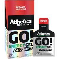 Go Energy Gel Caffeine - 10 Sachês (1Cx.) - Atlhetica Nutrition - Morango Com Limão